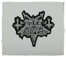 Dark Funeral Patch Sew Iron On Embroidered Rock Band Heavy Black Metal Logo New