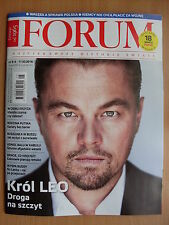 LEONARDO DiCAPRIO on front cover Polish Magazine FORUM in.Jamala,J.E.Coen