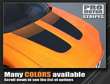 Dodge Charger Hood Blackout with Strobe Stripes 2011 2012 2013 Decal Graphic Pro