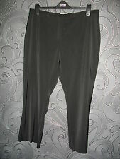 CLASSIC M&S BLACK BOOTLEG LEG TROUSERS WITH STRETCH SIZE 18 SHT LENGTH 26 INS
