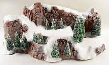 """Dept 56 Large 35"""" Village Snow Covered Mountain #5228-0 with Sisal Trees NEW"""