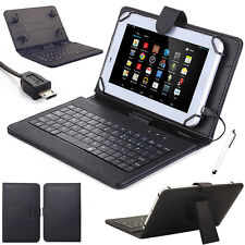 "For RCA 7""/RCA Voyager II 7"" Tablet Leather Stand Case Cover Micro USB Keyboard"
