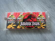 SEALED Jurassic Park Barratt Sweet Cigarette Candy Sticks 4 Packets Collectable