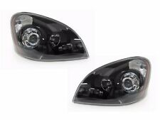 2008-2016 Freightliner Cascadia Projector Headlight SET - BLACK