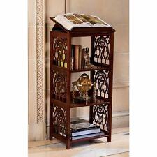 Dictionary Stand Free Standing Book Display Shelves Wooden Antiqued Case Lecturn