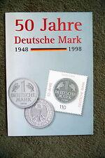 Jahresgabe der Post 1998 50 Jahre Deutsche Mark mit BRD MiNr 1996 , ESST