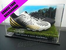 Signed TONY SHAW & NICK MAXWELL Boots 1990 2010 Collingwood Magpies Guernsey