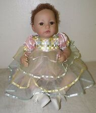 ASHTON DRAKE SO TRULY REAL BABY DOLL BROWN HAIR BROWN EYES BY DIANNA EFFNER 21""