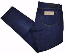 Burberry Brit Jeans Uomo Slim Fit Dark Indigo / blu misto cotone nuova con etichetta W40 x L32