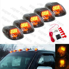 5 Pcs Smoked Amber Lens LED SUV RV Truck Pickup 4X4 Cab Roof Top Running Marker