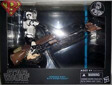 "SPEEDER BIKE & BIKER SCOUT Star Wars The Black Series 6"" Figure & Vehicle 2014"