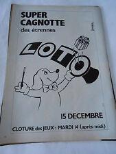 PUBLICITE 1982  Super Cagnotte des étrenne Loto