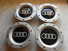Lot de 4 audi wheel centre caps pour 9 et 12 spoke alliages 147MM.56-58mm raccord