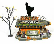 Dept 56 Black Cat Diner Halloween Village Town Restaurant Spooky Building #55319