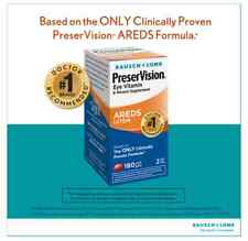 Bausch & Lomb PreserVision Lutein Eye Vitamin 180 Softgels