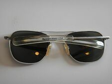 Randolph Engineering Military Aviator Pilot Sunglasses with original case 5 1/2""