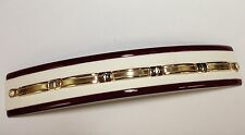 "14k solid two tone gold Men's Bar Link bracelet 8""    12 grams"