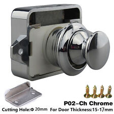 Large Push Lock Button Catch Lock Cupboard Door Knob Camper Caravan Motorhome