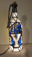 BYU Cougars Inspired Wine Bottle Lamp Lighted Handpainted