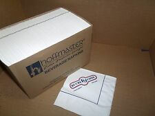 HOFFMASTER BEVERAGE NAPKINS-  RUCKER JOHN'S RESTAURANT- #1000 CASE/BOX OF 12