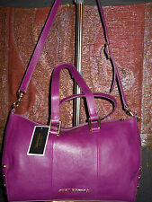 Juicy Couture Tough Girl Leather Studded Charlie Satchel Plum 3335 O087 NWT 348