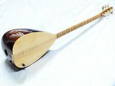 GANO: TURKISH MAHOGANY LONG NECK SAZ With ADJUSTABLE PICKUP W/ FREE CASE NEW !!!