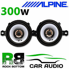 "ALPINE SXE-0825S SAAB 93 9-3 - 3.5"" 8.7cm 2 way 300 Watts Top Dash Car Speakers"