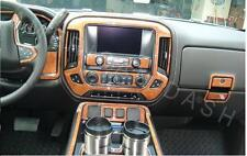 CHEVY CHEVROLET SILVERADO 2014 2015 2016 LTZ Z71 INTERIOR WOOD DASH TRIM KIT SET