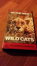 SURVIVAL OF THE WILD WILD CATS CHEETAH..LEOPARD. . VHS VIDEO