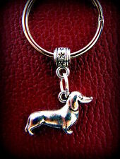 3-Dimensional Doxie DACHSHUND DOG KEYCHAIN Jewelry - Weiner Sausage Puppy Pup