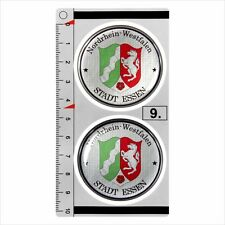Nordrhein-Westfalen​ set of 2 German Number Plate Seal Stadt 3D Domed Sticker