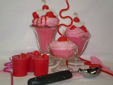 Strawberry Sundae Ice Cream Candle - handmade - Great gift for Valentine!!