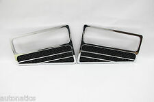 Ford F-250 SUPER DUTY 1999-2004 TFP Chrome Logo Vent Insert SHARP BLACK MESH