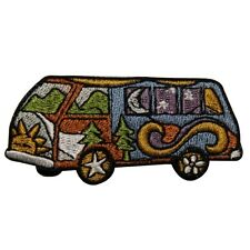 ID 0026 VW Van Peace Hippie Embroidered Iron On Applique Patch
