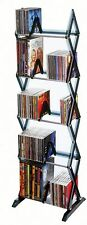 Atlantic Mitsu 130 CD/90 DVD/BluRay/Games 5-Tier Media Rack Stand Tower Shelf