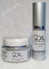 COAL COSMETICS ~ Moisturizer Cream 1.0 oz & Eye Serum 0.5 oz ~Anti-Aging Set NEW