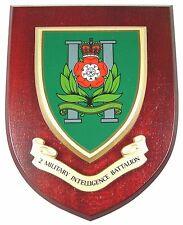 2ND BTN INTELLIGENCE CORPS HAND MADE IN UK REGIMENTAL MESS PLAQUE