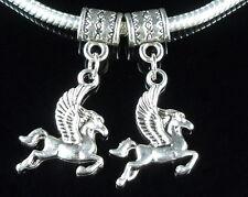 30pcs Pegasus Horse Dangles Charm Fit Bracelet ZY62