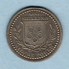Great Britain. N:D (1811) Silver -  Shilling Token.. Leicestershire.. EF/aEF