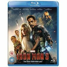 IRON MAN PART 3 Blu Ray MARVEL ORIGINAL UK Release Third Movie 3rd Film IRONMAN