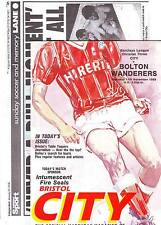 BRISTOL CITY V BOLTON WANDERERS 1989 SIGNED ROB NEWMAN UNIQUE on E-bay!