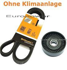Keilrippenriemen+Spannrolle Für VW LUPO 1.4 L - 1.6 GTI 98-2005 mit Servolenkung