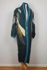 vintage 80's Chunky Knit full length cardigan S M wool blend
