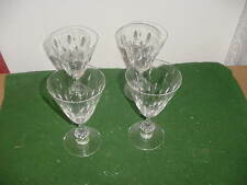 "Set of 4 Vintage Tiffin Cut Crystal Franciscan Willow 6 1/4"" Stem Wine Glasses"