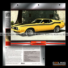 #084.04 ★ FORD MUSTANG MACH 1 1973 ★ Fiche Auto Car card