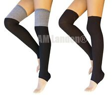 "AM Landen®Knee-Highs Acrylic Knit Leg Warmers Thin Version for Yoga- 18""-2Pairs"