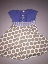 NAARTJIE WHIMSICAL SPARKLE POLKA DOT STRIPED DRESS SIZE 8