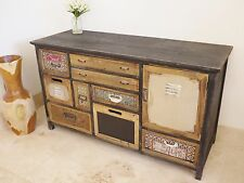 Shabby chic painted Sideboard cabinet chest retro style distressed sideboard3947