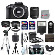 Canon EOS 700D Digial SLR Camera Body + 3 Lens 18-55mm STM + All You Need Kit