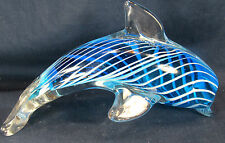 Dolphin Leaping Glass Paper Weight Figurine Sea life Tropical